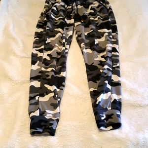 Maternity Black, white and gray camouflage Joggers